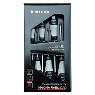 Bellota 66291-ELEC – Destornilladores para electricista, Kit de 6 destornilladores de máxima fiabilidad