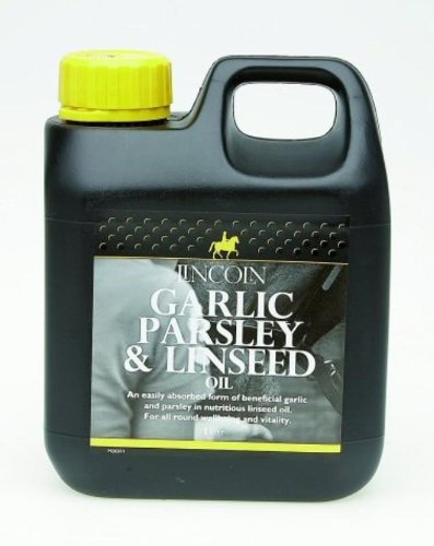 LINCOLN  Garlic Parsley And Linseed Oil Horse Health Feed Supplement 1 Litre