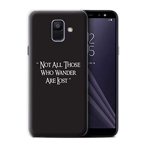 Stuff4® Hülle/Case für Samsung Galaxy A6 (2018) / Wandern Zitieren Muster/LOTR Fantasie Inspiriert Kollektion Fantasia-kollektion