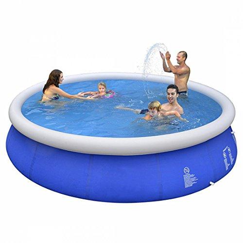 Jilong Marin Blue Rundpool Set Ø 420x84 cm Becken Swimming Pool Fast-Set Familienpool Schwimmbecken | Garten > Swimmingpools | Jilong