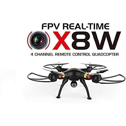Trendy-Planets® Syma X8W real-time FPV Drone Quadricottero WIFI/HD fotocamera con audio registrazione