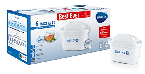 BRITA Maxtra+ Water Filter Cartridges, White, Pack of 6 (UK Version)