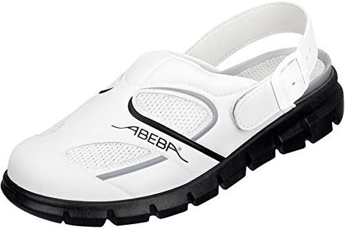 Abeba - Zapatos de trabajo (microfibra A con insertos textiles, con buen agarre, correas ajustables en el talón...