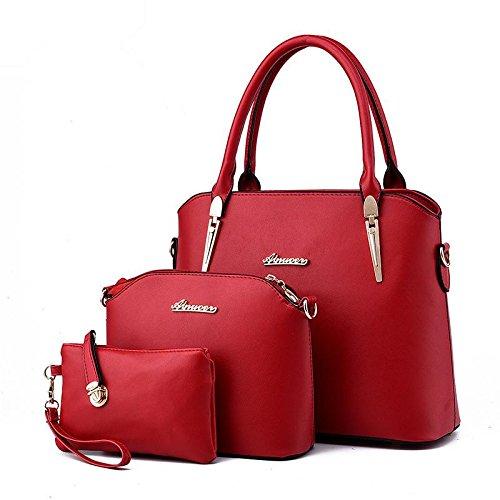 HQYSS Damen-handtaschen Europäische und amerikanische Atmosphäre Mode stereotypen weiblichen Schulter Messenger Tasche wine red