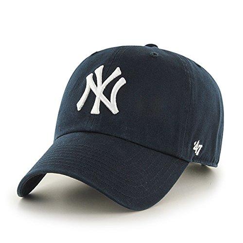'47 Erwachsene Kappe MLB New York Yankees Clean Up, Navy, OSFA, B-RGW17GWS-HM
