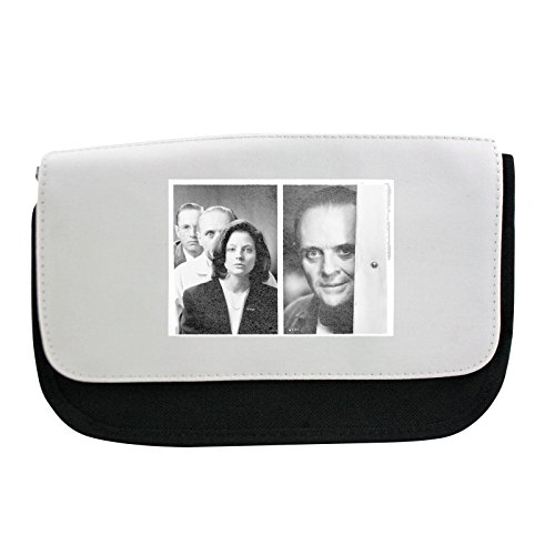 Preisvergleich Produktbild Pencil case with The Silence of the Lambs, Jodie Foster, Anthony Hopkins and Scott Glenn standing in a row.