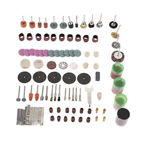 166 Pcs Elektrische Drehwerkzeug Bit Set Schleifen Polieren Sanding 1/8