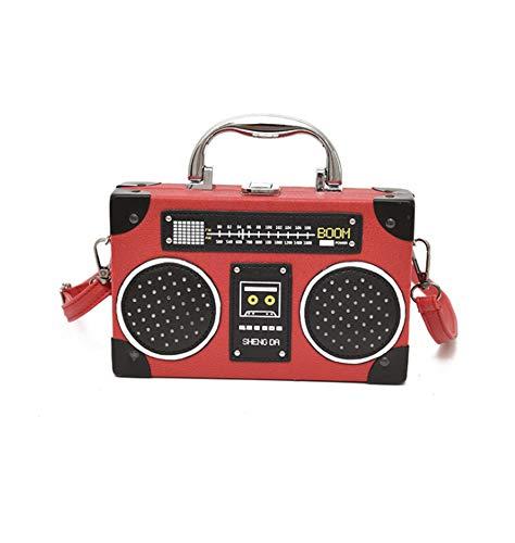 Qing Bolso Clásico Diseño Forma Radio Para Mujer