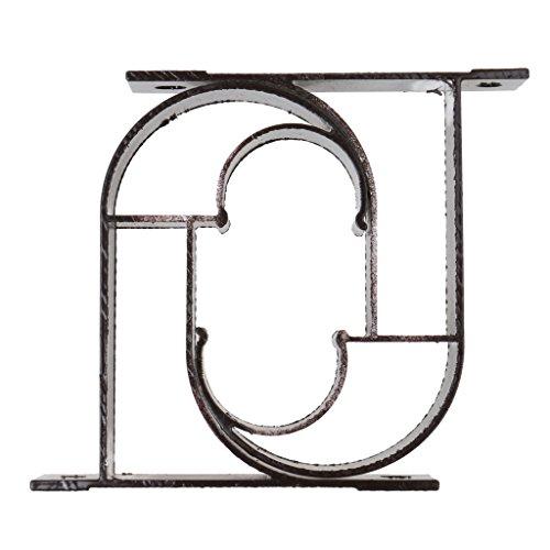 Preisvergleich Produktbild Sharplace Vorhang Metall Halter Haken Zugband Haken Wand Haken,Schwarz
