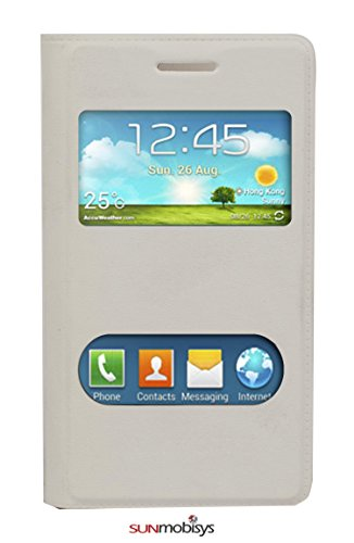 Sun Mobisys™; Samsung Galaxy Core Flip Cover; Flip Cover for Samsung Galaxy Core I8262 White  available at amazon for Rs.169
