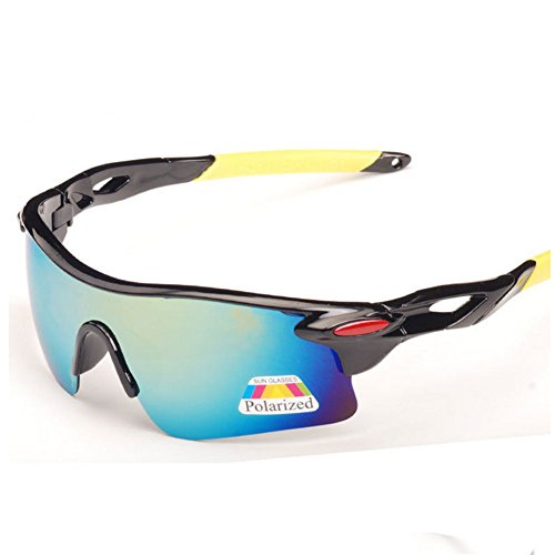 Z-P Fashion Men's Sports Style Riding Driving Windproof Polarized Ultra Wide Sunglasses 80MM UV400