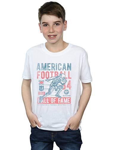 Drewbacca Jungen American Football T-Shirt Weiß 5-6 Years
