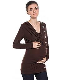 Modetrend Mama Femme Enceinte Vêtements de Maternité Nursing Tops T-Shirt Manches Longues T-Shirt