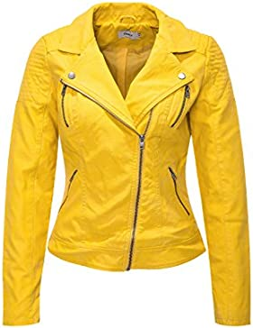 Only Onlsteady Faux Leather Biker Cc Otw, Chaqueta para Mujer