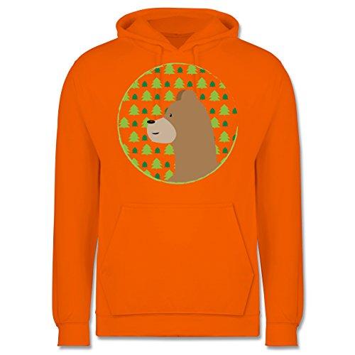 Wildnis - Tiermotiv Bär - Männer Premium Kapuzenpullover / Hoodie Orange
