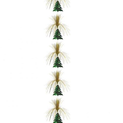 Albero di Natale oro & verde appeso Cascade colonna decorazione