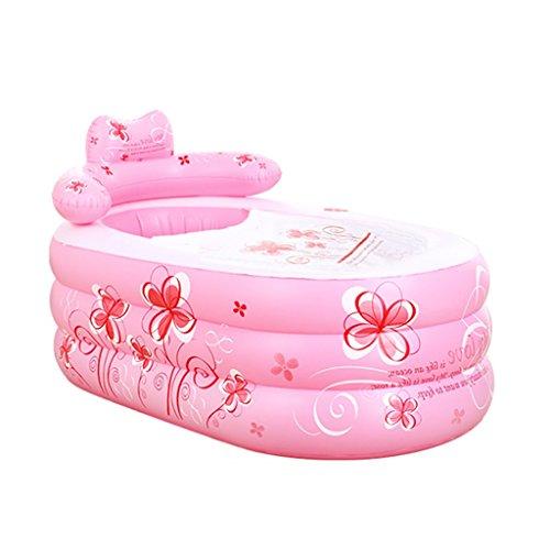 sunjun & tubble aufblasbare Badewanne Erwachsenen Größe tragbare Home Spa, komfortables Bad, Qualität Wanne, rose, 130*75*70cm