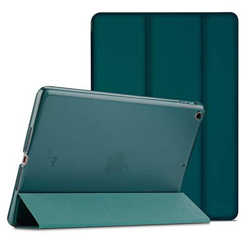 ProCase iPad 9.7 Hülle 2018 iPad 6 Generation /2017 iPad 5 Generation Tasche - Dünn Schlank Leichtgewicht Ständer mit Transluzent Matt Rückseite Intelligente Hülle für Apple iPad 9.7 Zoll -Smaragd