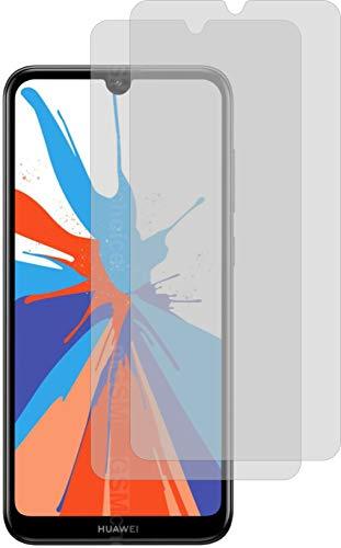 2X Crystal Clear klar Schutzfolie für Huawei Y7 2019 Displayschutzfolie Bildschirmschutzfolie Schutzhülle Displayschutz Displayfolie Folie
