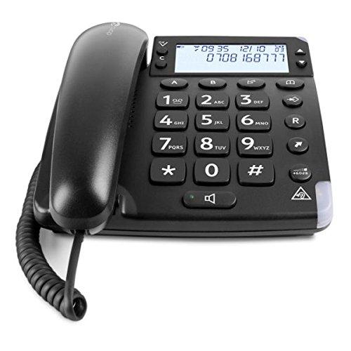 Doro Magna 4000 Schnurgebundenes Großtastentelefon mit großem hintergrundbeleuchtetem Display