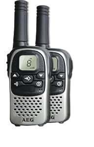 AEG VOXTEL R110 PMR-Funkgeräte inkl. Duo-Tischladestation (5km Reichweite, 500 mWatt)