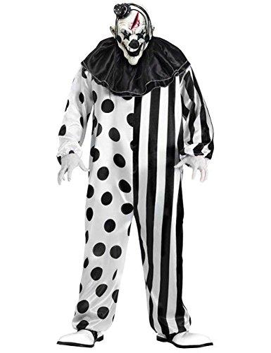 Schwarz Kostüm Clown - KULTFAKTOR GmbH Horror-Clown Halloween-Kostüm schwarz-Weiss M / L