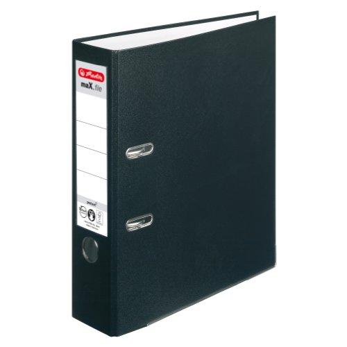 Herlitz 5480801 Ordner maX.file protect A4 (8 cm mit Einsteckrückenschild) schwarz