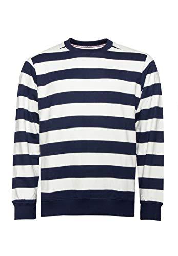WEMOTO Crew Stripe - Scollo Rotondo, da Uomo Navy Blu L