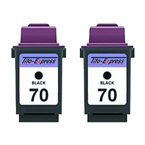 Preisvergleich Produktbild Gorilla-Ink 2 Patronen kompatibel für Lexmark 70 XL / Black je 22ml XXL-Inhalt