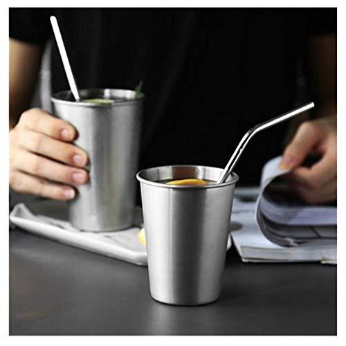 Edelstahl Tasse Kind Anti fallen Edelstahl Wasser Tasse Schwer Metall Weinglas Weißweinglas,...