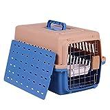 Jumedy Pet Air Box Cat e Dog Air spedizione Casella di spedizione Gabbia di Cane Gabbia di Gatto Portatile Fuori dalla Scatola di Gatto, Durevole, Inviare Pad Ciotola appesa