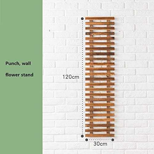 Aufhängung Plant Stand,pflanzenhalter Mid Century Holz Moderne Blume Topf Halter Rack Für Indoor Outdoor-c 30x120cm(12x47inch) -
