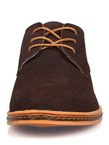 iLoveSIA® Chaussures de ville homme cuir Suede Oxfords Neuf Marron