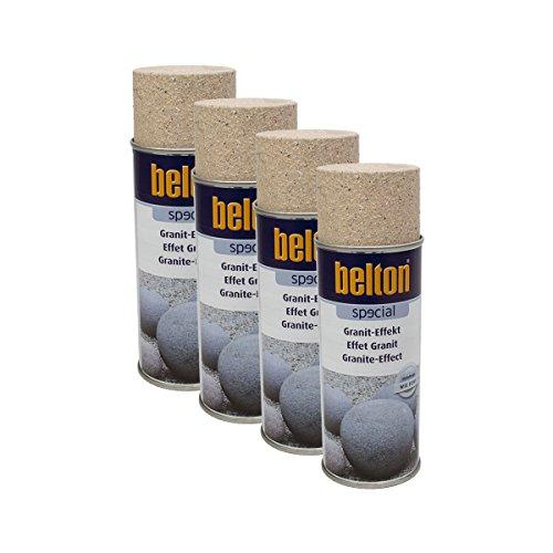 Preisvergleich Produktbild 4x KWASNY 323 353 BELTON SPECIAL Granit-Effekt Travertinbraun 400ml