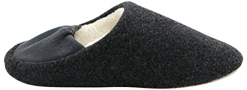 ROWOO , Chaussons pour homme Noir/gris
