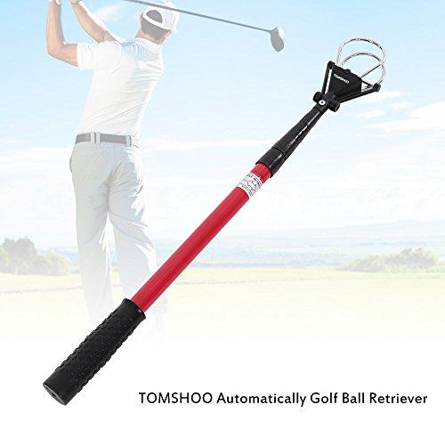 TOMSHOO Ramasseur de balles de golf 1.8M Ramasse-balle télescopique en alliage d'aluminium ramasser Pratique