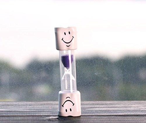 Dental Aesthetics UK Sablier 2 minutes pour brossage des dents des enfants Motif smiley violet