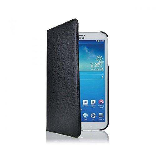 COOVY® Cover für Samsung Galaxy TAB 3 8.0 SM-T3100 SM-T3110 SM-T3150 SM-T310 SM-T311 SM-T315 ROTATION 360° SMART HÜLLE TASCHE ETUI CASE SCHUTZ STÄNDER | Farbe schwarz