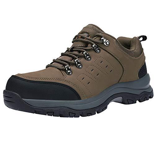 CAMEL CROWN Wanderschuhe Herren Outdoor Schuhe Rutschfest Trekkingschuhe Leder Wanderstiefel Winter Warm Wasserdichte Schuhe Männer Lace up