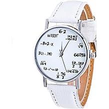 Relojes Pulsera Mujer,Xinan Cuero PU Venda Relojes Analógicos del Cuarzo (Blanco)
