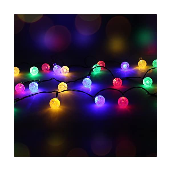 50 LED Solar Powered Outdoor String Lights 2
