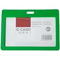 CKB Ltd® 100x Green Verde Enclosed Plastic Pass Rigid Holder COLOUR FRAME DELUXE – HORIZONTAL / LANDSCAPE. Racchiuso in plastica rigida Passo Holder COLORE TELAIO DELUXE - ORIZZONTALE / PAESAGGIO identità ID Pass Card Badge Holder Pocket Sacchetti Holder 102 millimetri x 78 millimetri / Contiene una scheda fino a 90mm x 54 millimetri. Identificazione Portabadge Tesserino di Riconoscimento