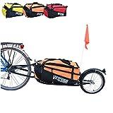 Polironeshop Vector Remolque para Bici Bicicleta de trasporte por cicloturismo Carro Carrito (Naranja)