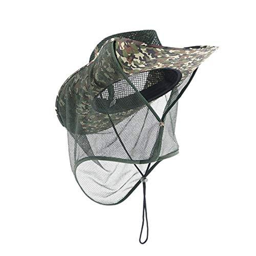 Nicololfle Outdoor Sonnenschutzkappe,Outdoor Sonnenschutzkappe Für Erwachsene UPF 50+ Sonnenschutzkappe Mit Netzmaschen Nackenschutz Anti-UV Atmungsaktiver Eimer Hut Für Camping Reisefischen
