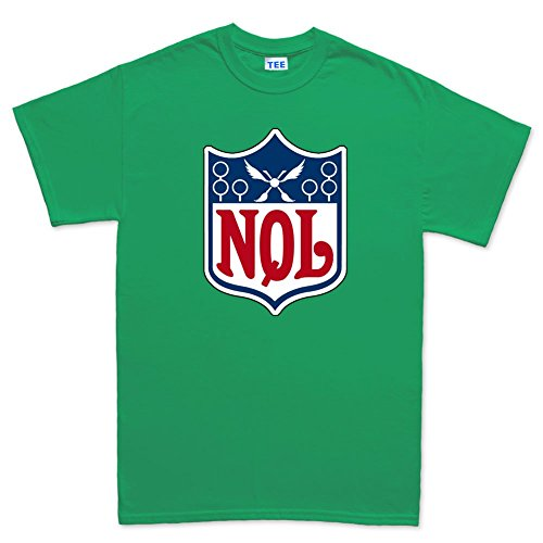 National Quidditch League - Harry Magic Wizard T Shirt (Tee) 5XL Irish Green