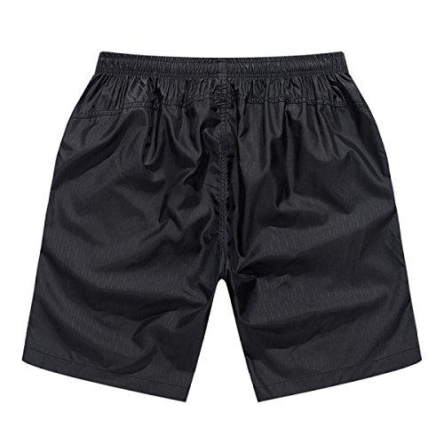 2 Pack Hommes Quick Dry Sport Décontracté Détendu Plus-Size été Section Mince Swim Trunk Deux Options De Couleur A