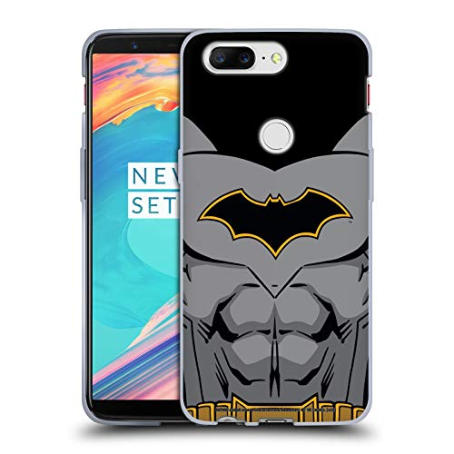 Head Case Designs Offizielle Batman DC Comics Wiedergeburt Kostuem Logos Soft Gel Huelle kompatibel mit OnePlus 5T