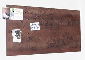 magnet pinnwand mit rost optik memoboard magnettafel magnetisch inkl 10 haft magnete. Black Bedroom Furniture Sets. Home Design Ideas