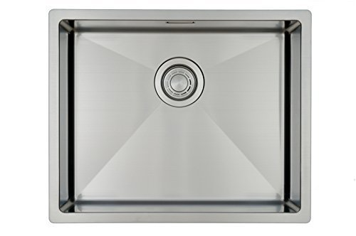 Évier/ lavabo Mizzo Linea 50-40 - évier de cuisine acier inoxydable -...