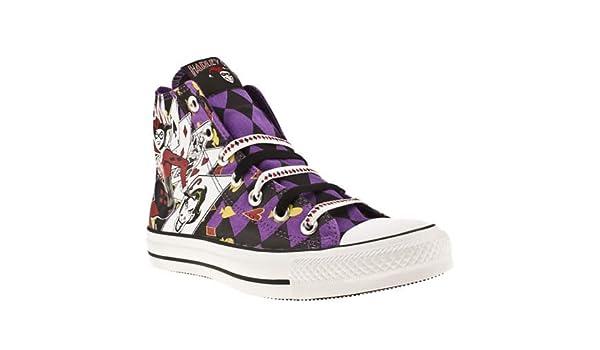 87e841eeffc2 Converse Allstar Hi Iii Harlequin Print - 8 Uk - Black   Purple - Fabric   Amazon.co.uk  Shoes   Bags